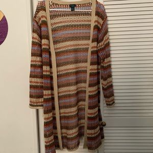 Crochet Natural Multicolor Duster.